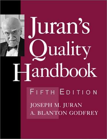 Juran's Quality Handbook  5th 1999 (Revised) edition cover