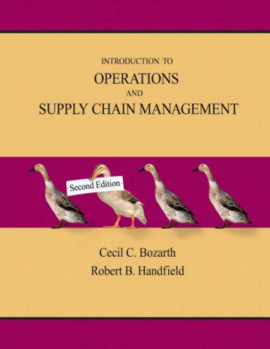 Introduction to Operations and Supply Chain Management  2nd 2008 9780131791039 Front Cover