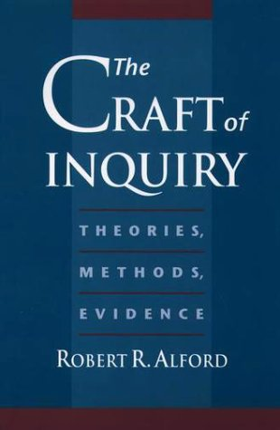 Craft of Inquiry Theories, Methods, Evidence  1998 edition cover
