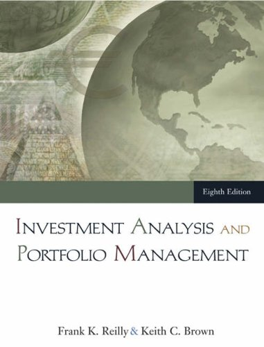 Investment Analysis and Portfolio Management  8th 2006 9780324289039 Front Cover