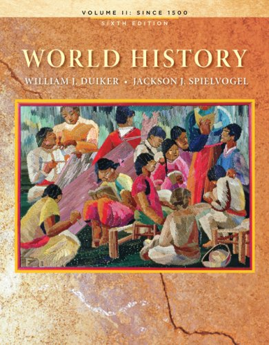 World History, Volume II: Since 1500  6th 2010 edition cover