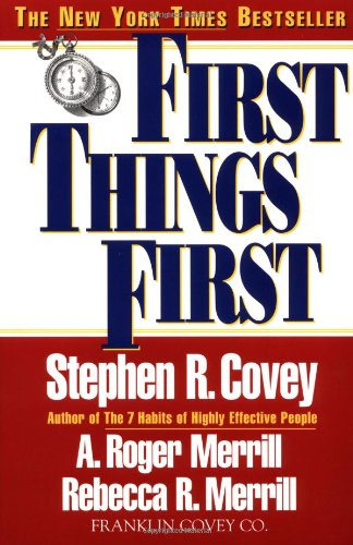 First Things First   1996 edition cover
