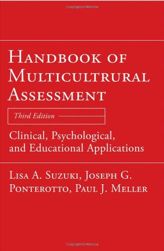 Handbook of Multicultural Assessment Clinical, Psychological, and Educational Applications 3rd 2008 edition cover