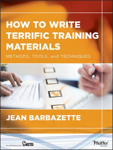How to Write Terrific Training Materials Methods, Tools, and Techniques  2013 edition cover
