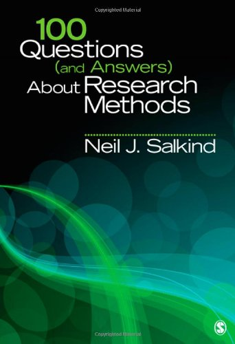 100 Questions (and Answers) about Research Methods   2012 edition cover