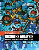 Foundations of Business Analysis An Introduction to Derivative Calculus and Statistics Revised edition cover