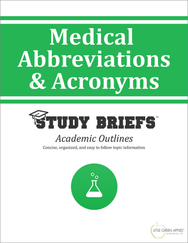 Medical Abbreviations & Acronyms 1st 9781634260039 Front Cover