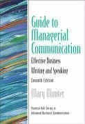 Managerial Communication Effective Business Writing and Speaking 7th 2006 edition cover