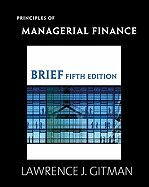Principles of Managerial Finance, MyFinanceLab -- Valuepack Access Card, and Study Guide for Principles of Managerial Finance Package 12th 2009 edition cover