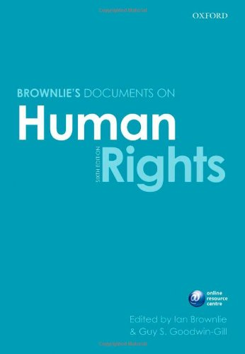 Brownlie's Documents on Human Rights  6th 2010 edition cover