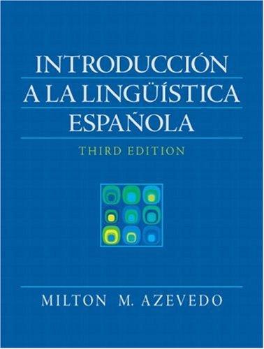 Introducci�n a la Ling��stica Espa�ola  3rd 2009 edition cover