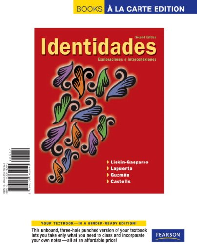 Identidades, Books a la Carte Edition  2nd 2009 9780205762040 Front Cover