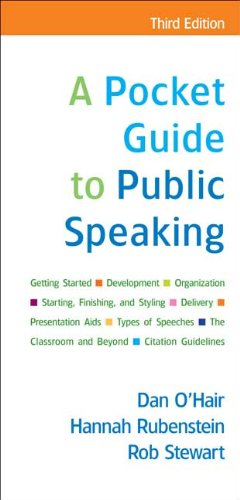 Pocket Guide to Public Speaking  3rd 2009 edition cover