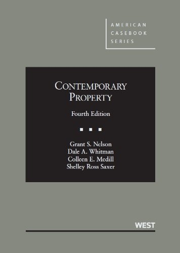 Contemporary Property:   2013 edition cover