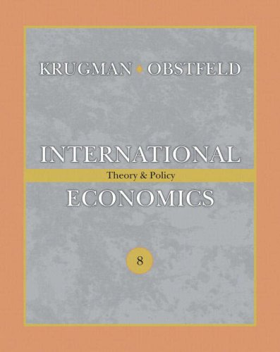 International Economics Theory and Policy 8th 2009 edition cover