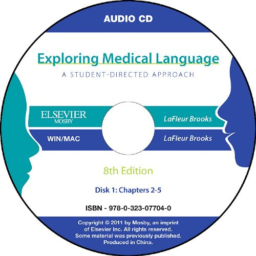 Audio CDs for Exploring Medical Language  8th 2011 edition cover
