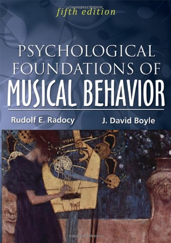 Psychological Foundations of Musical Behavior  5th 2012 edition cover