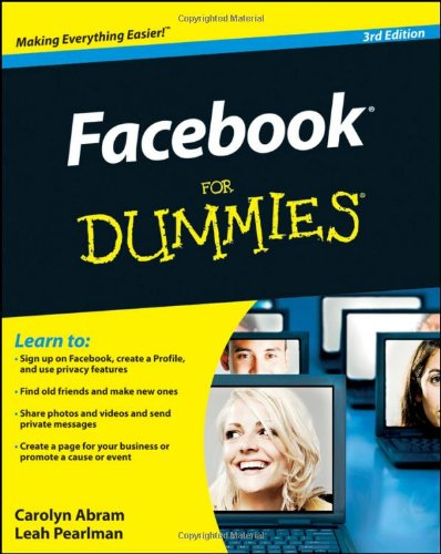Facebook for Dummies  3rd 2010 9780470878040 Front Cover