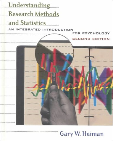 Understanding Research Methods and Statistics An Integrated Introduction for Psychology 2nd 2001 edition cover