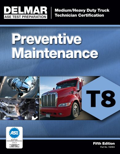 ASE Test Prep- T8 Preventive Maintenance  5th 2013 edition cover