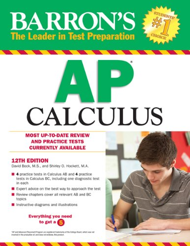 Barron's AP Calculus, 12th Edition  12th 2013 (Revised) edition cover