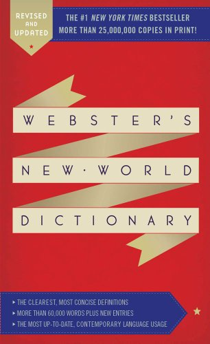 Webster's New World Dictionary   2013 edition cover