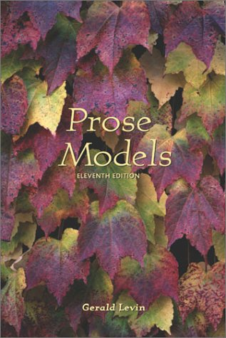 Prose Models  11th 2002 (Revised) 9780155064041 Front Cover