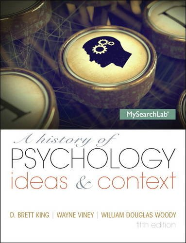 A History of Psychology: Ideas & Context  2013 edition cover