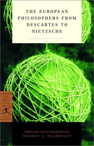 European Philosophers from Descartes to Nietzsche   2002 edition cover