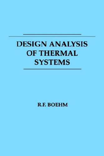 Design Analysis of Thermal Systems  1st 1987 edition cover
