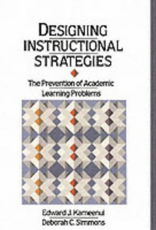 Designing Instructional Strategies The Prevention of Academic Learnig Problem  1990 edition cover