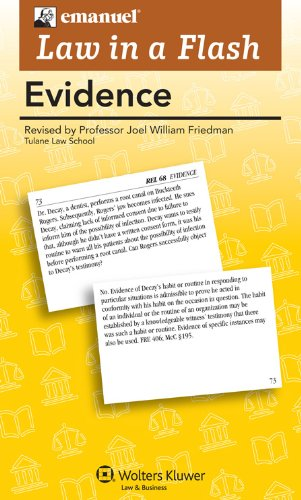 Liaf Evidence 2011 Student Manual, Study Guide, etc. edition cover