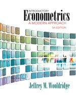 Introductory Econometrics A Modern Approach 5th 2013 edition cover