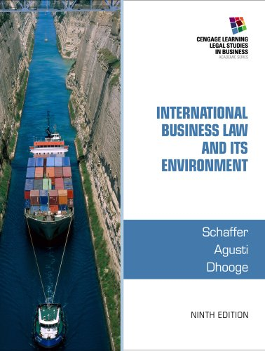 International Business Law and Its Environment: 9th 2014 edition cover