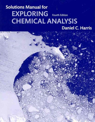 Exploring Chemical Analysis  4th 2009 edition cover