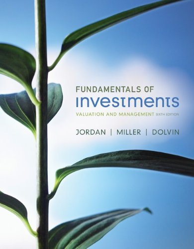 Loose-Leaf Fundamentals of Investments with Stock-Trak Card  6th 2012 9780077505042 Front Cover