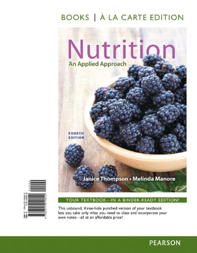 Nutrition: An Applied Approach; Books a La Carte Edition  2014 edition cover
