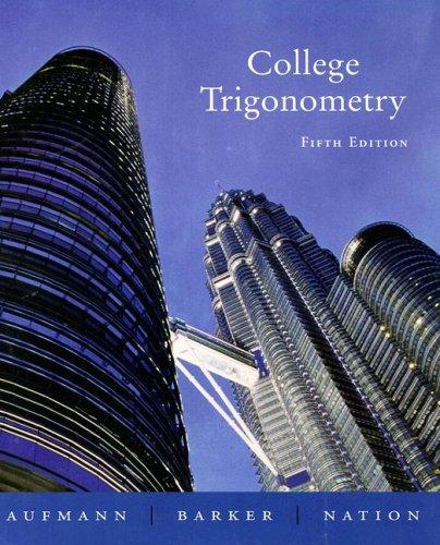 College Trigonometry  5th 2005 edition cover