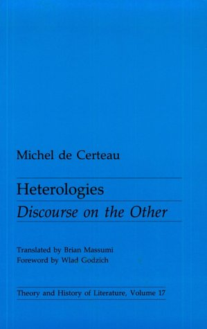 Heterologies Discourse on the Other  1986 edition cover