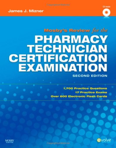 Mosby's Review for the Pharmacy Technician Certification Examination  2nd 2010 edition cover