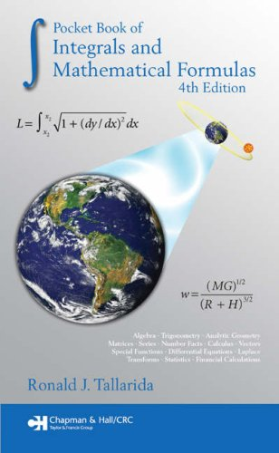 Pocket Book of Integrals and Mathematical Formulas  4th 2008 (Revised) edition cover