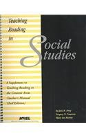 Teaching Reading in Social Studies A Supplement to Teaching Reading in the Content Areas- If Not Me, Then Who? 2nd 2002 edition cover