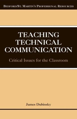 Teaching Technical Communication Critical Issues for the Classroom N/A edition cover