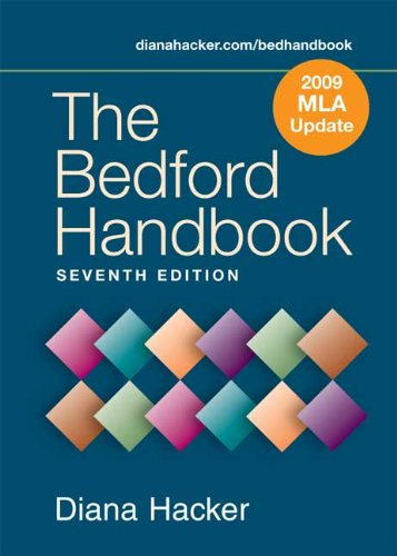 Bedford Handbook 7e with 2009 MLA Update  7th 2009 edition cover