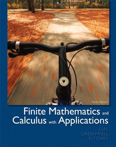 Finite Mathematics and Calculus with Applications  9th 2012 edition cover