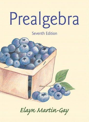 Prealgebra  7th 2015 edition cover