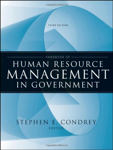 Handbook of Human Resource Management in Government  3rd 2010 (Handbook (Instructor's)) edition cover