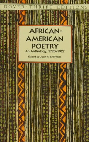 African-American Poetry An Anthology, 1773-1930  1997 edition cover