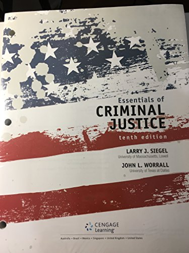 Essentials of Criminal Justice:   2016 9781305664043 Front Cover