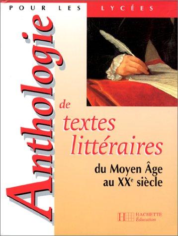 ANTHOLOGIE DE TEXTES LITTERAIR N/A edition cover
